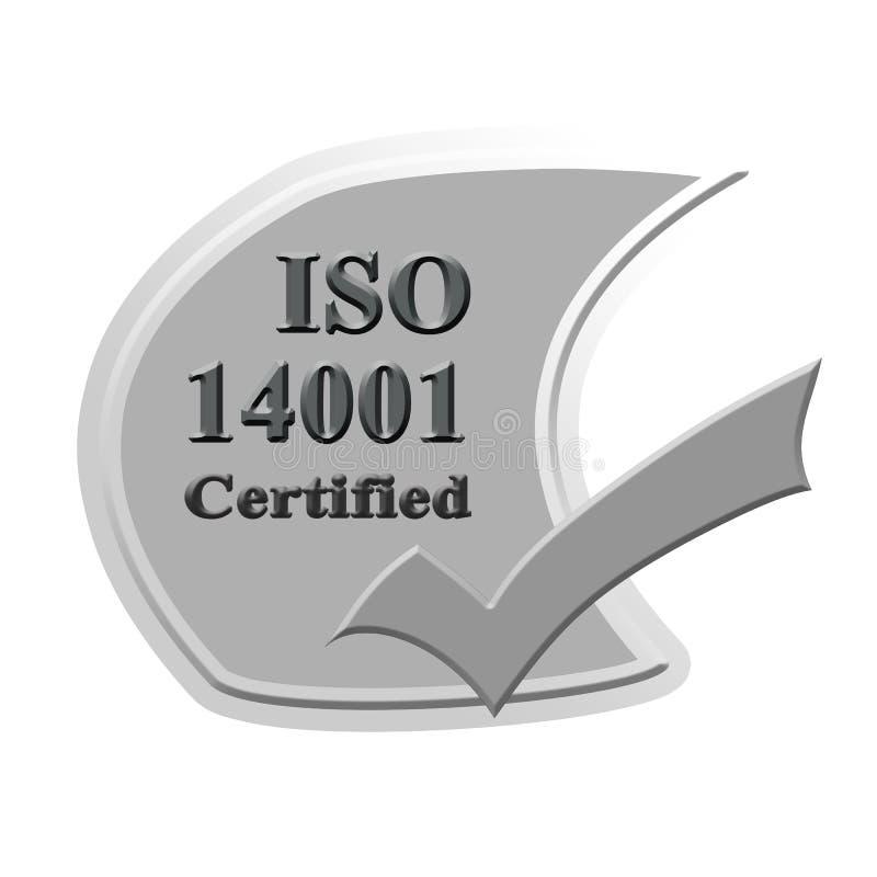 ISO14001 verklaard pictogram of symboolbeeldconceptontwerp voor busin stock afbeeldingen