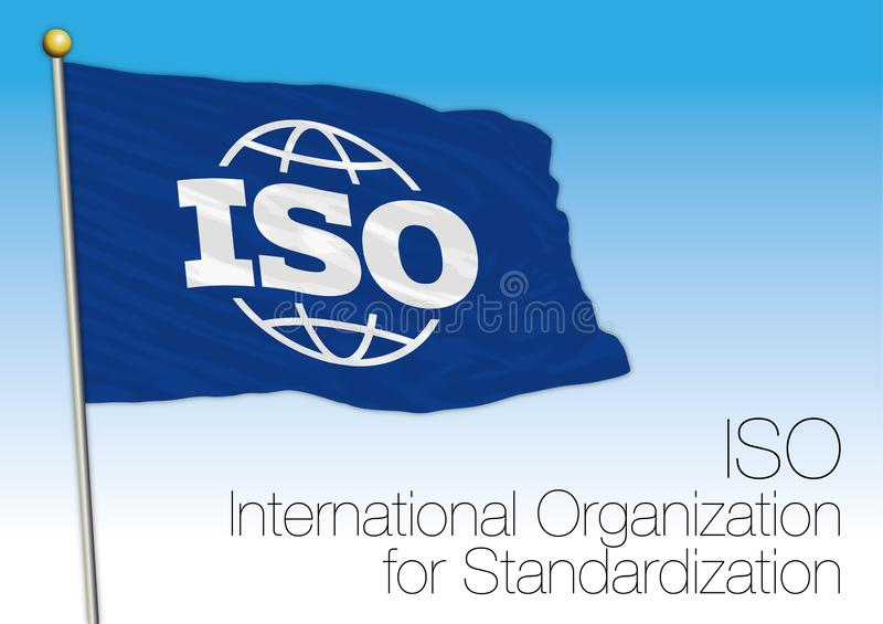 ISO-vlag, internationale Organisatie voor Normalisatie stock illustratie