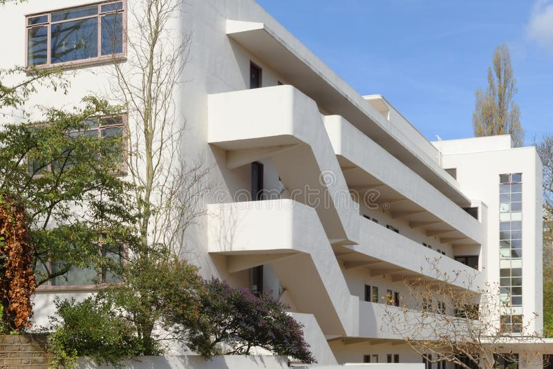 The isokon building, hampstead, london stock photography