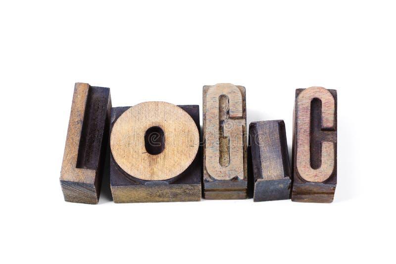 Isol van het logicawoord stock afbeeldingen