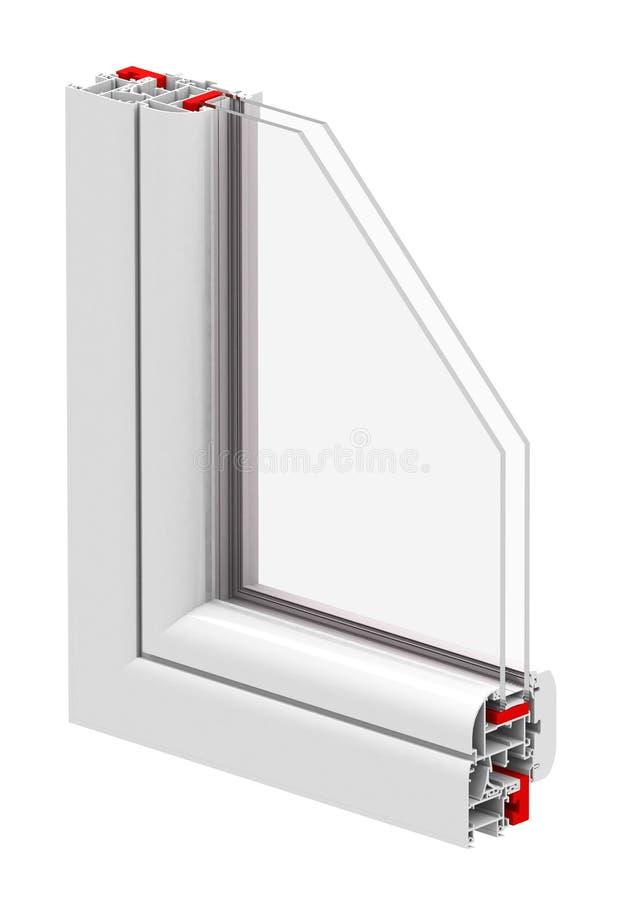 A isolação da janela ilustração stock