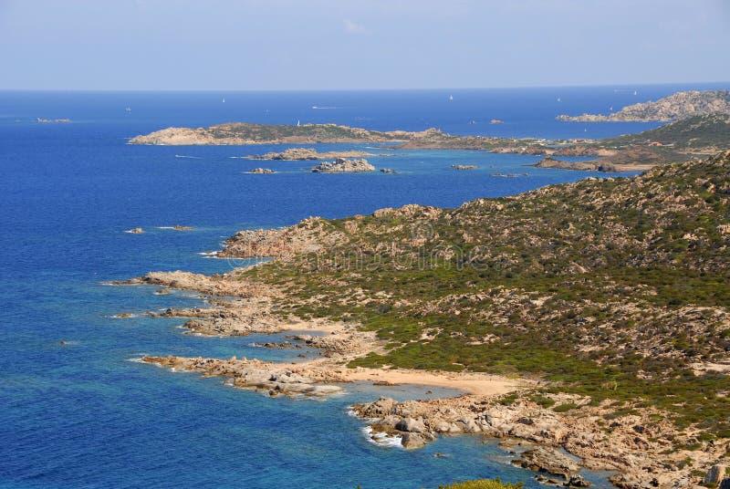 isola意大利maddalena ・撒丁岛 库存照片