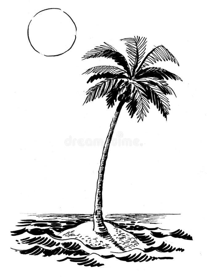 Isola abbandonata illustrazione di stock