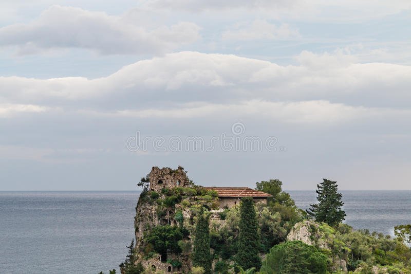 Isola Bella陶尔米纳 免版税库存照片