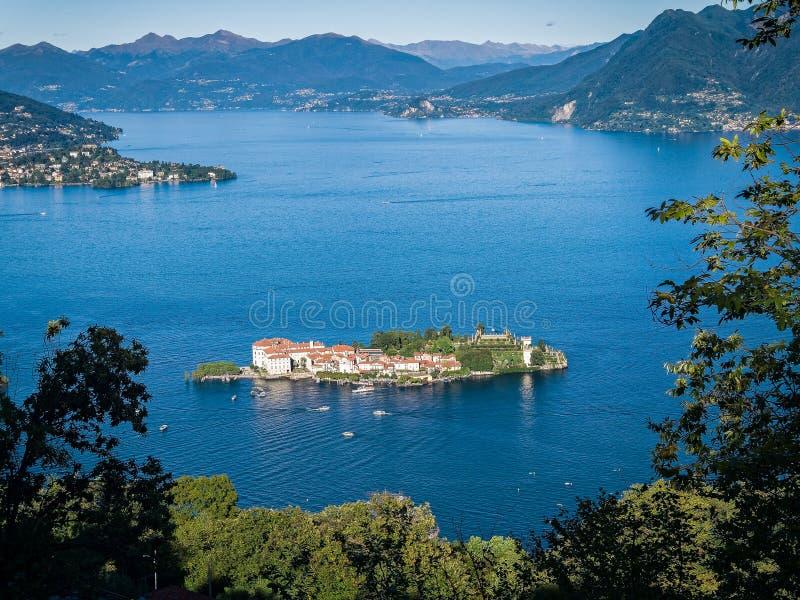 Isola Bella马焦雷湖意大利 库存照片