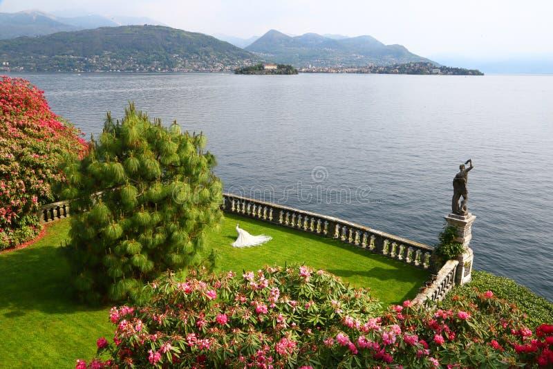 Isola Bella, Borromean海岛,意大利庭院  免版税图库摄影