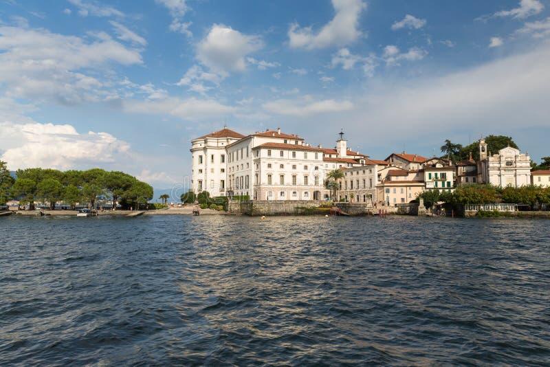 Isola Bella в озере Maggiore около Stresa в Италии стоковые изображения rf