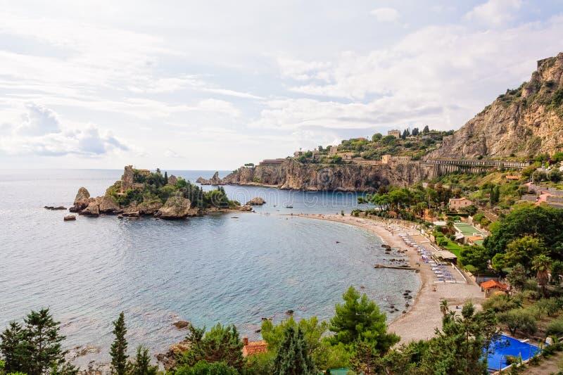 Isola Bella Beach - Taormina fotografia stock libera da diritti