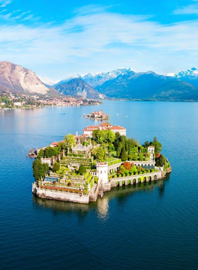 Isola Bella, het Meer van Lago Maggiore stock foto