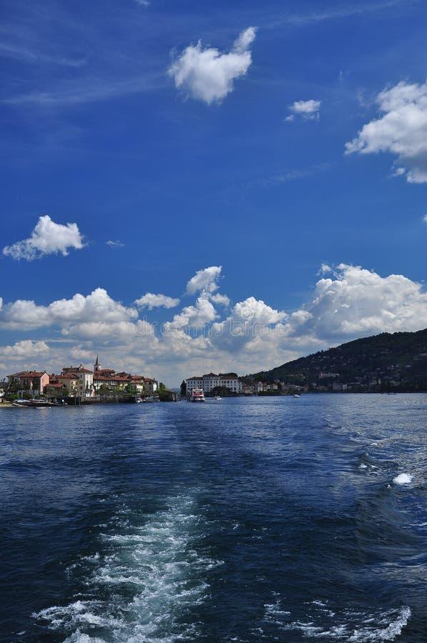 Isola Bella and Isola dei Pescatori. Lake Maggiore, Italy royalty free stock image