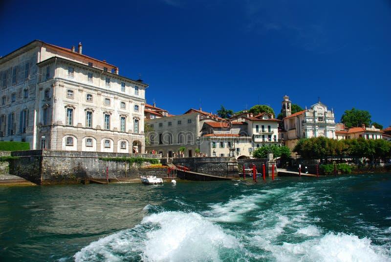 Isola Bella, lago Maggiore. Palacio de Borromeo foto de archivo libre de regalías