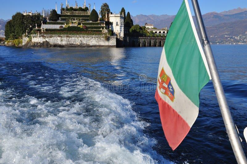 Isola Bella, Lake (lago) Maggiore in Autumn, Italy stock photography