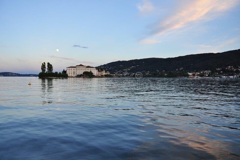 Stresa, Italy. Isola Bella, Lake - lago - Maggiore. Full moon royalty free stock photos
