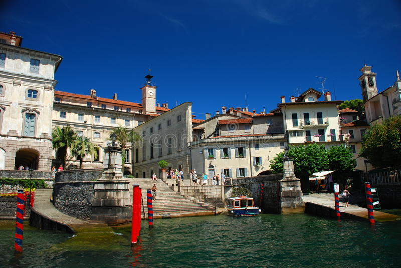Isola Bella, Lake Maggiore. Borromeo palace. Borromeo palace detail on the Isola Bella, Lake Maggiore, Italy stock image