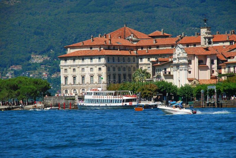 Isola Bella, lake Maggiore, Italy. The Borromeo palace on isola Bella, Lake Maggiore, Italy royalty free stock photos