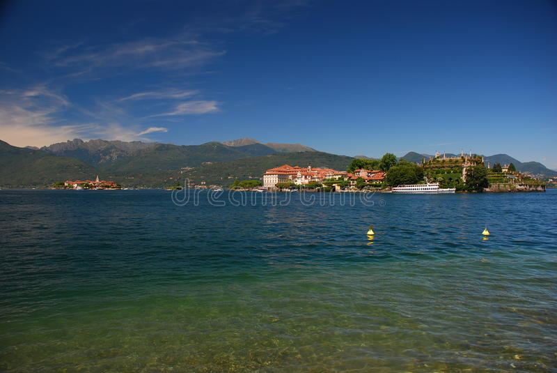Isola Bella, lake Maggiore, Italy. The Borromeo palace and botanical gardens on isola Bella, Lake Maggiore, Italy stock image