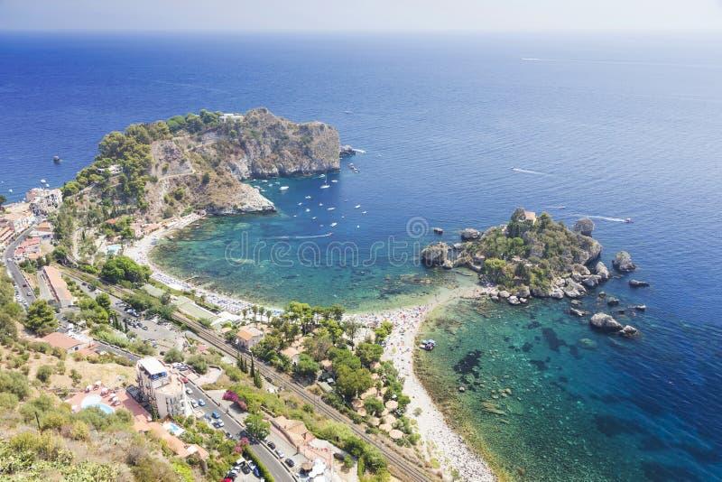 Isola Bella, Mazzaro-Taormina Sicilia Italia foto de archivo libre de regalías