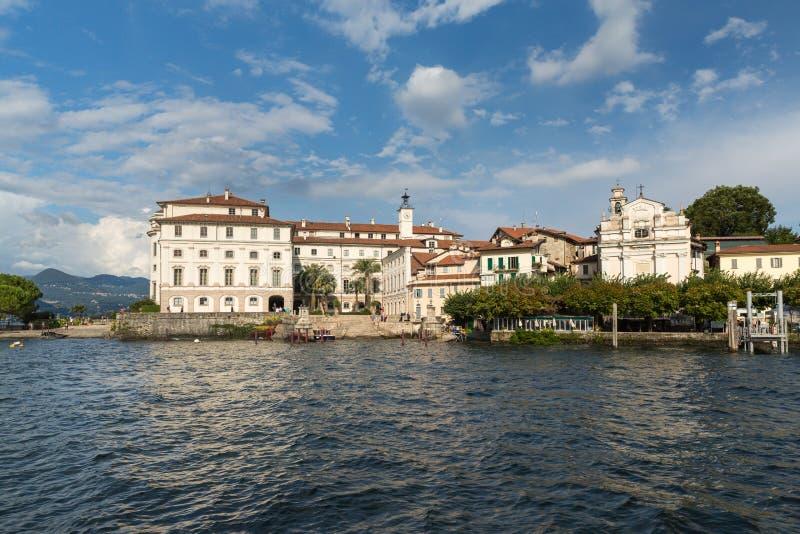 Isola Bella in Meer Maggiore dichtbij Stresa in Italië royalty-vrije stock fotografie