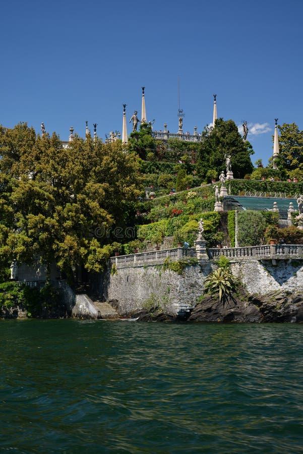 Isola Bella , Stresa, Lake - lago - Maggiore, Italy. Hanging gardens stock photos