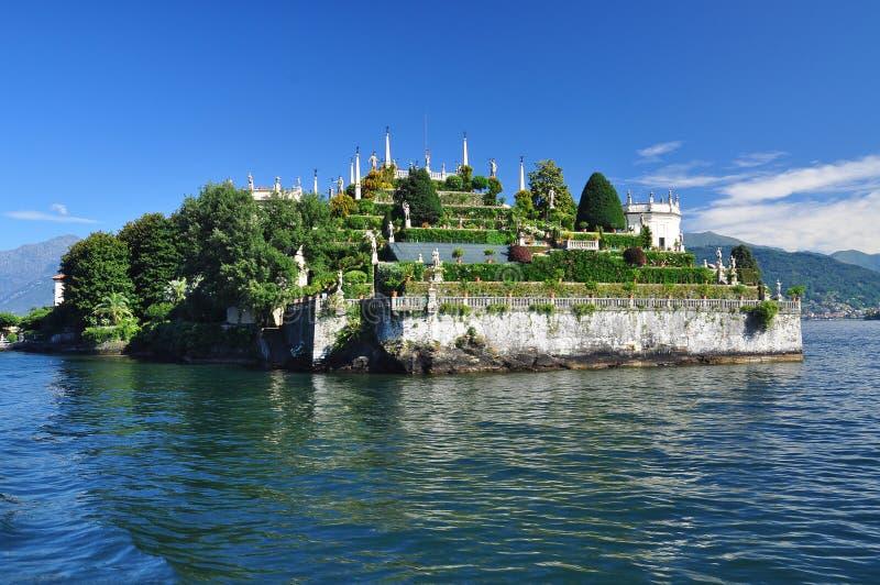 Isola Bella , Stresa, Lake - lago - Maggiore, Italy. Hanging gardens. Isola Bella, Stresa, Lago - lake - Maggiore, Italy. Northern Italian lakes. Borromeo palace royalty free stock photos
