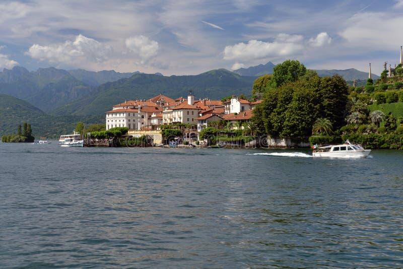 Isola Bella, Stresa, Meer - lago - Maggiore, Italië Hangende tuinen royalty-vrije stock afbeelding