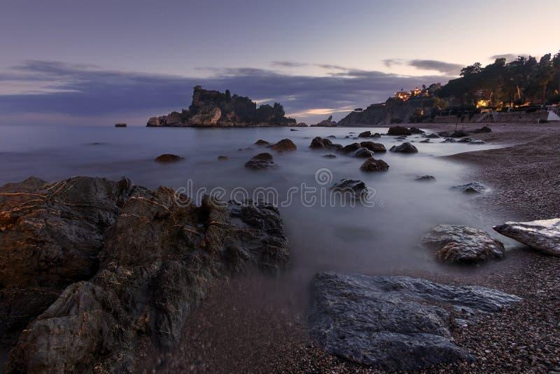 Isola Bella Taormina - Σικελία στοκ φωτογραφία