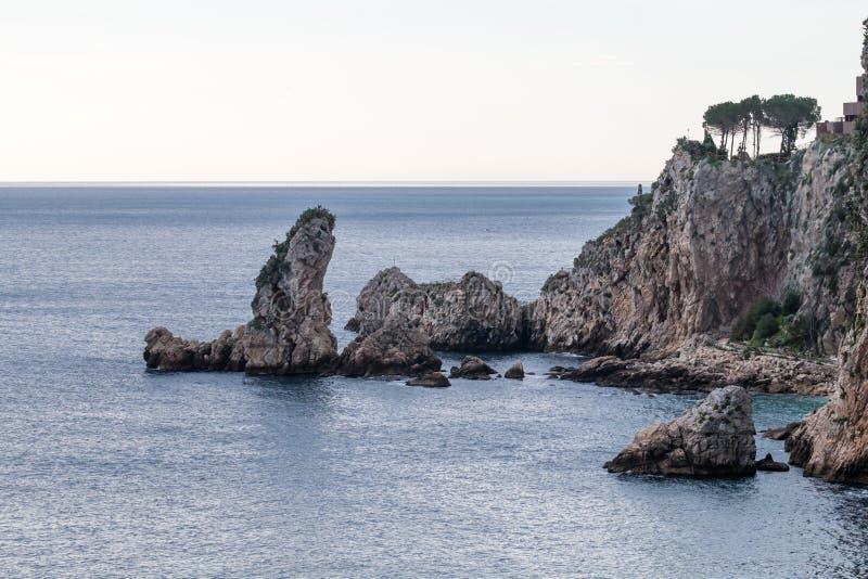 Isola Bella Taormina стоковые фотографии rf