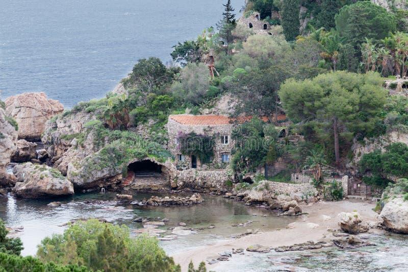 Isola Bella Taormina royaltyfria foton