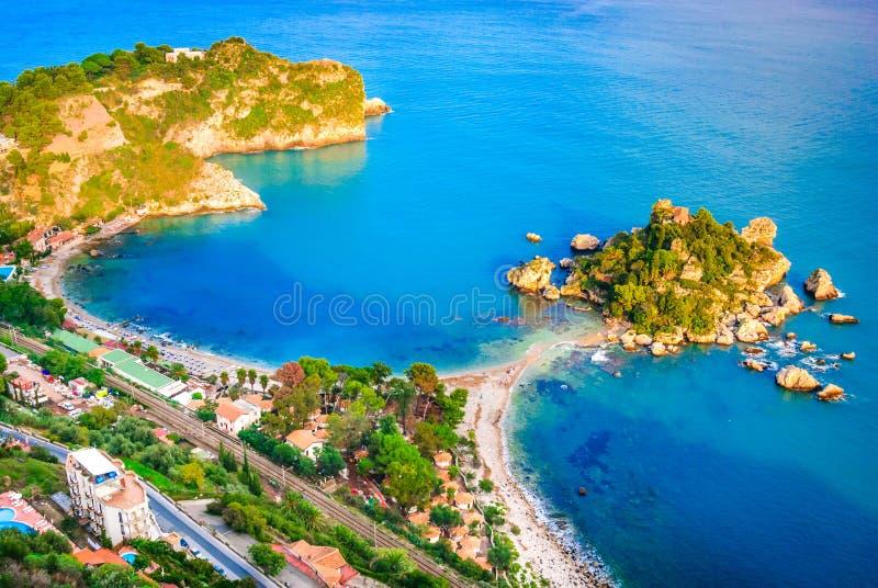 Isola Bella - Taormina, Sicile, Italie photos stock
