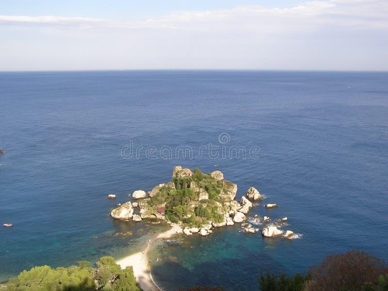 Isola Bella Taormina Sicily Italy medelhavet royaltyfria foton