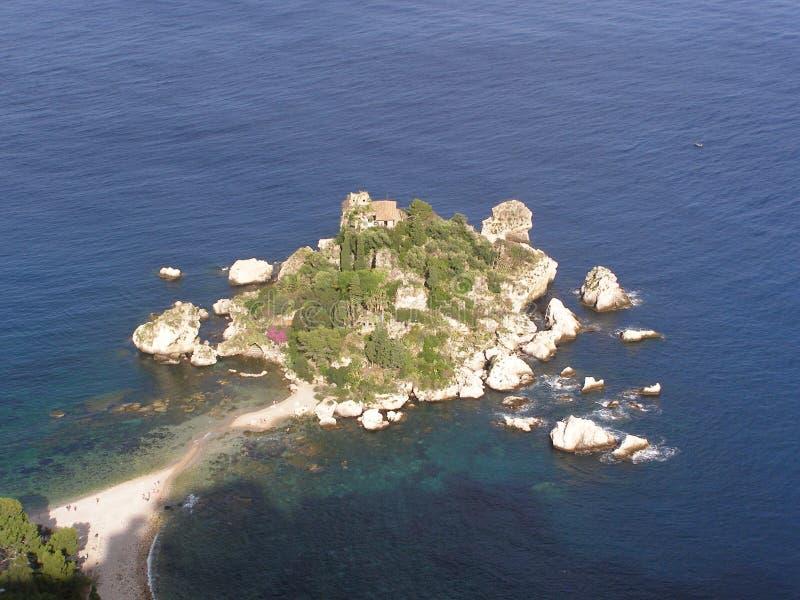 Isola Bella Taormina Sicily Italy medelhavet fotografering för bildbyråer