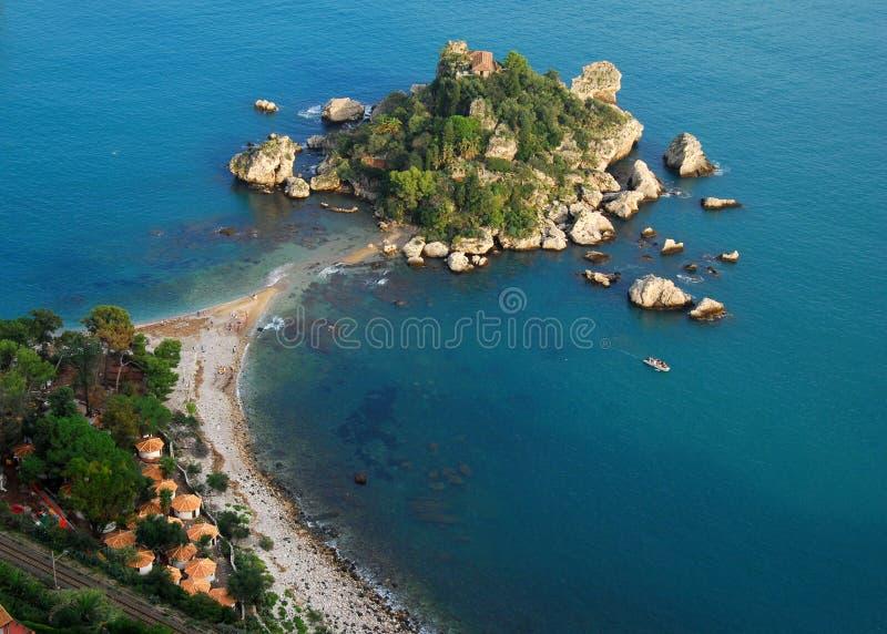 Isola Bella in Taormina (Sizilien, Italien) lizenzfreie stockfotos
