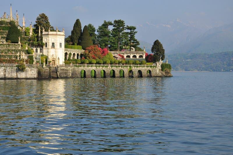 Isola Bella wiszący ogródy. Jeziorny Maggiore, Włochy obraz royalty free
