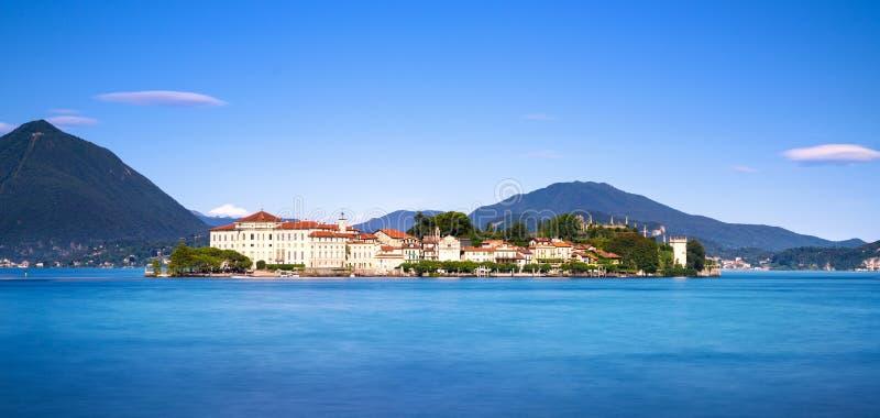 Isola Bella wyspa w Maggiore jeziorze, Borromean wyspy, Stresa P zdjęcie stock