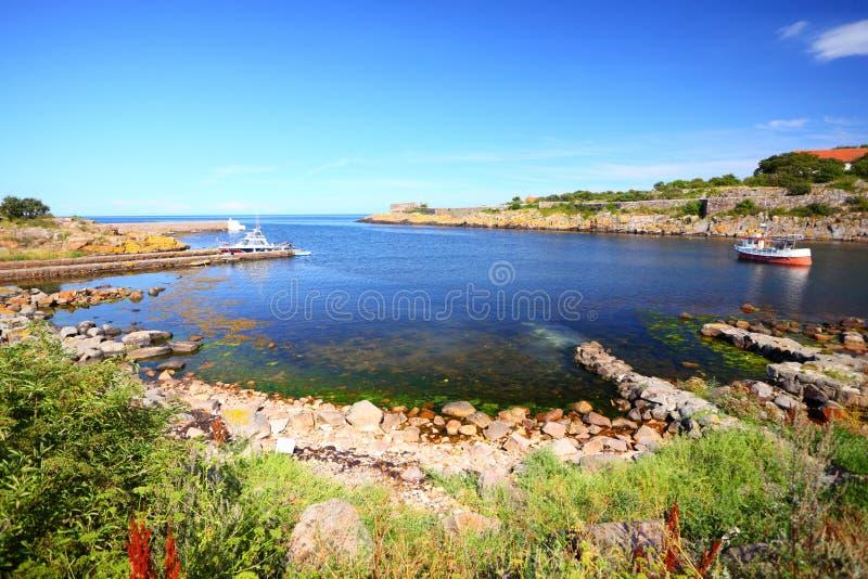 Isola Bornholm Danimarca di Christiansoe di vista sul mare fotografia stock libera da diritti