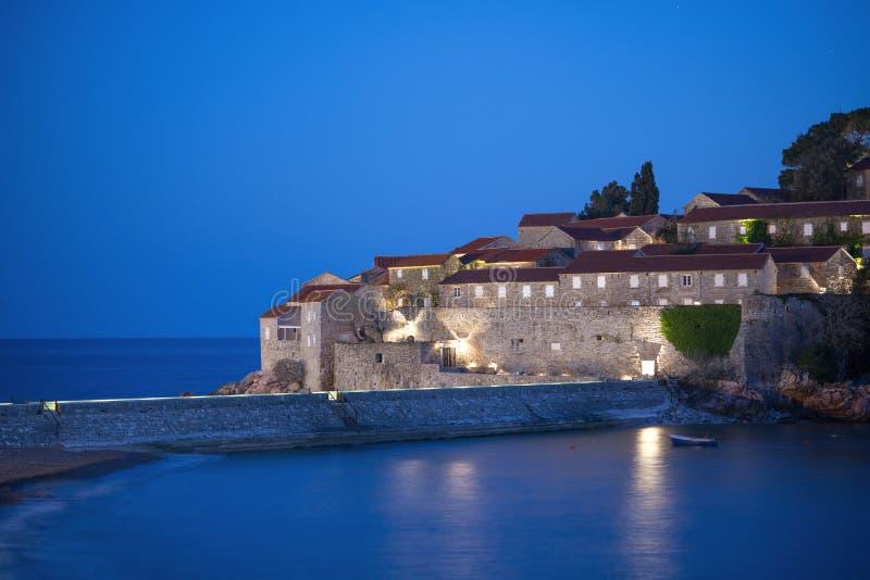 Isola in Budva, Montenegro di Sveti Stefan Ponticello della baia a San Francisco, CA Bella vista panoramica fotografia stock