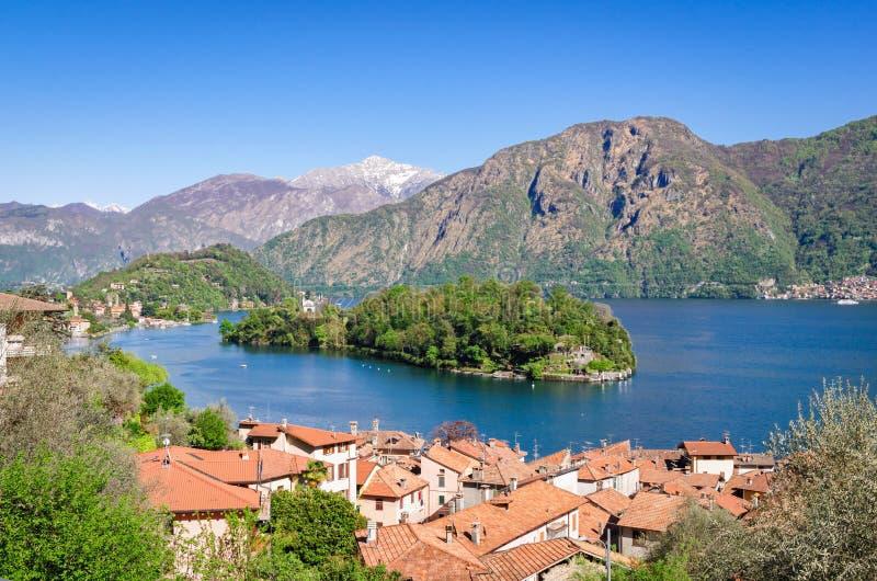Isola Comacina Lago di Como fotos de archivo