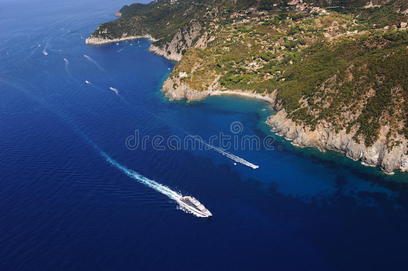 Isola d'Elba-Patresi coastline royalty free stock photos