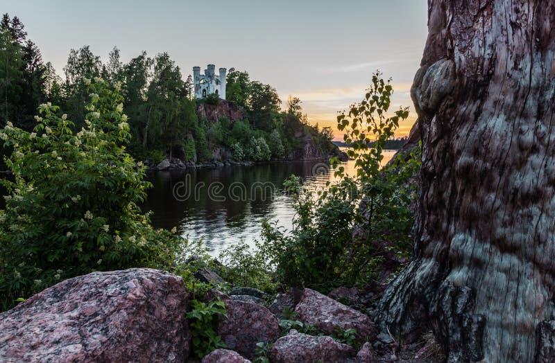 Isola dei morti Vyborg, Russia fotografie stock