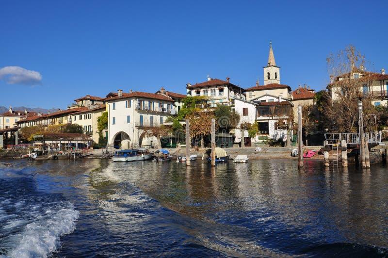 Isola dei Pescatori, Lake (lago) Maggiore, Italy royalty free stock image