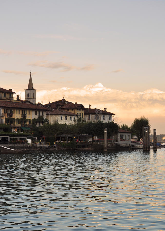 Isola dei Pescatori, Lake - lago - Maggiore, Italy stock photo