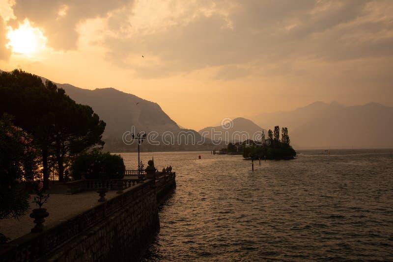 Isola dei Pescatori, Stresa. Lake - lago - Maggiore, Italy royalty free stock images