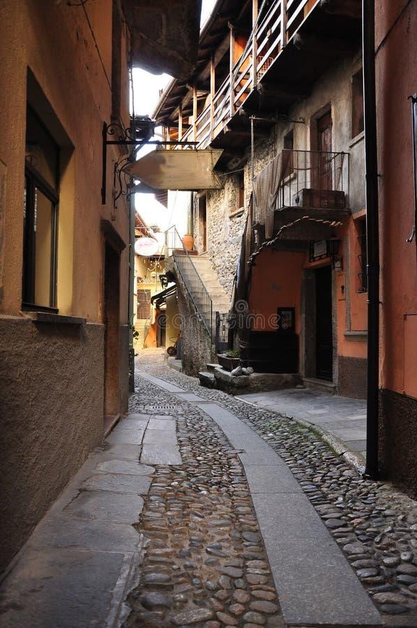 Isola dei Pescatori village alley (street) royalty free stock photography