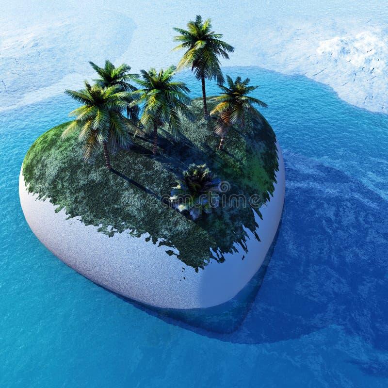 Isola del cuore royalty illustrazione gratis