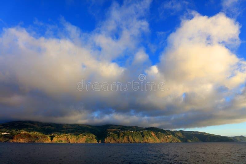 Isola del Flores, Azzorre, Portogallo fotografie stock