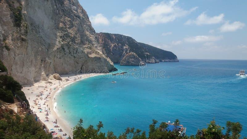 isola del Greco della spiaggia fotografia stock