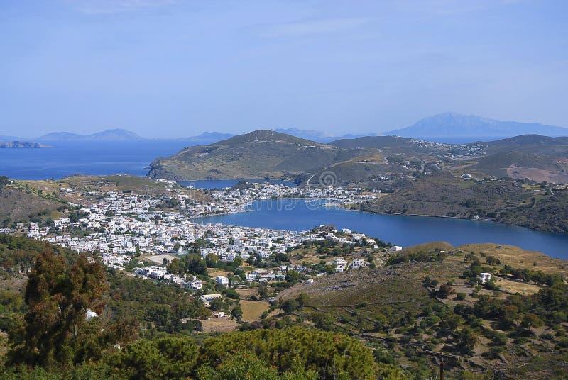 Isola del Greco di Patmos fotografia stock libera da diritti
