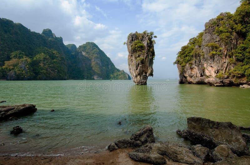 Isola del James Bond, Phang Nga, Tailandia immagini stock libere da diritti
