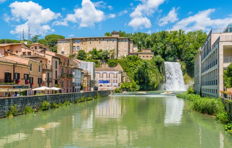 Isola Del Liri, miasteczko w prowinci Frosinone, Lazio, środkowy Włochy zdjęcie stock