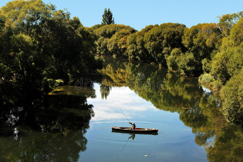 Isola del sud della Nuova Zelanda di pesca fotografia stock